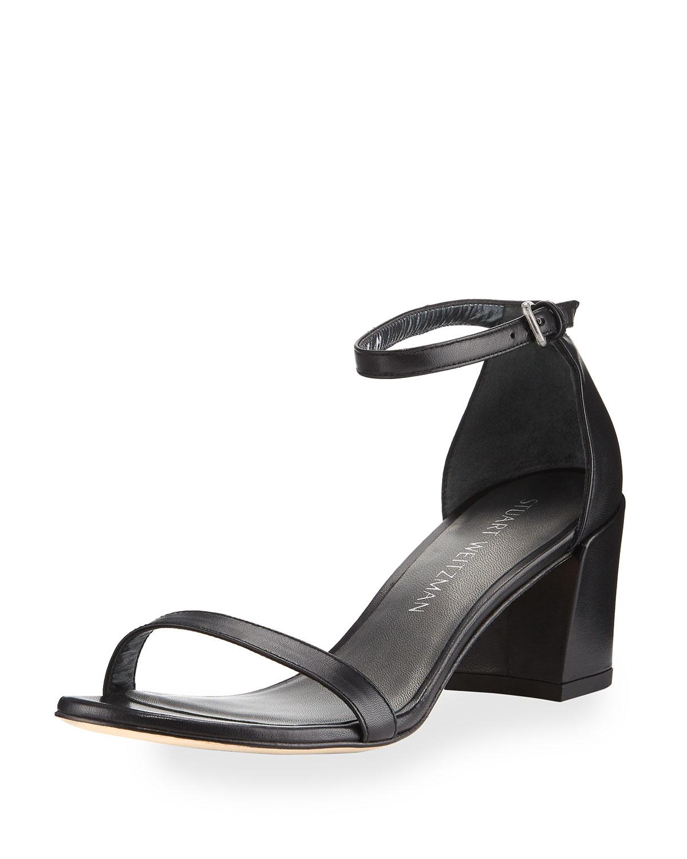 ca613caea264 Stuart Weitzman Simple Napa Chunky-Heel City Sandal