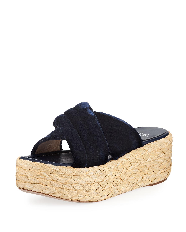9a205301c664 Stuart Weitzman Pufftopraffia Velvet Wedge Platform Sandals