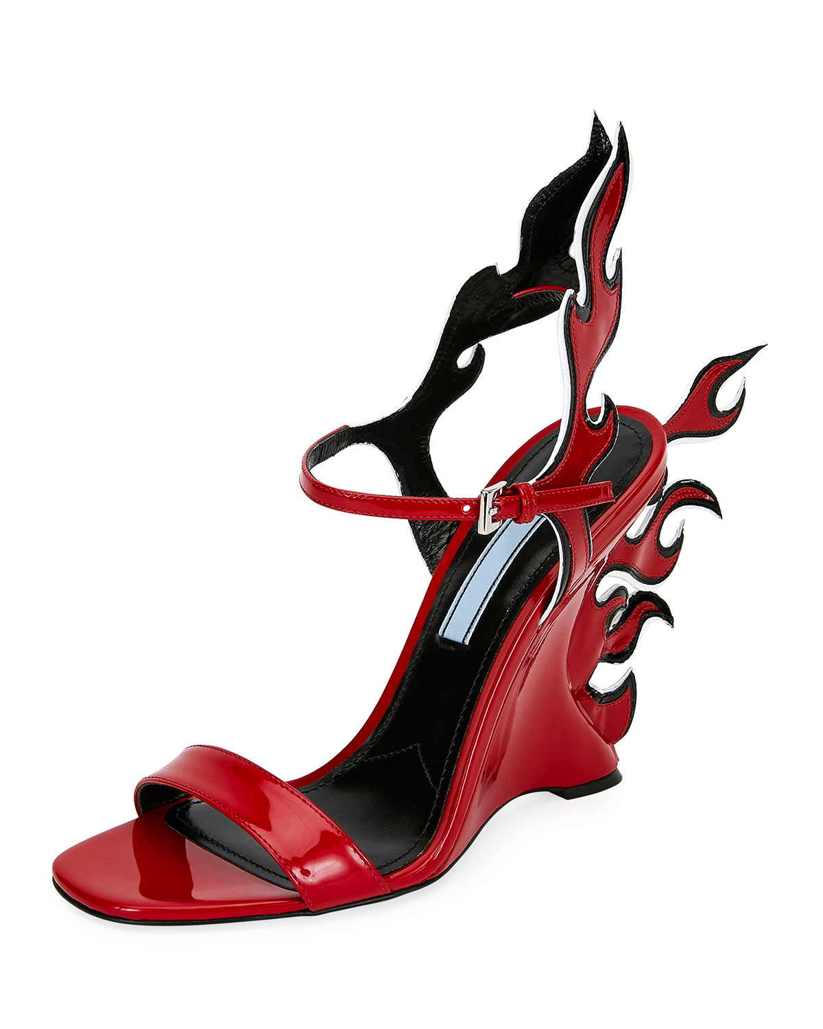 b2dbd683feac Prada Flame Leather 110mm Sandals