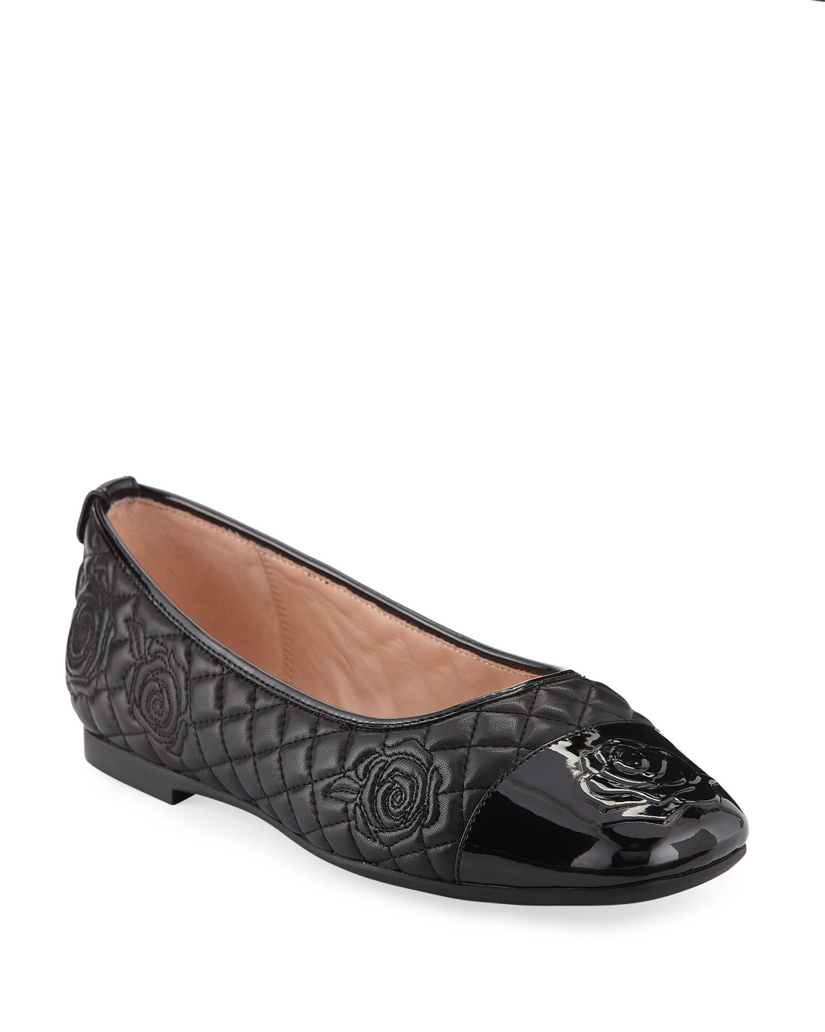e8ca692b8bc Taryn Rose Reese Rose-Quilted Leather Ballet Flats