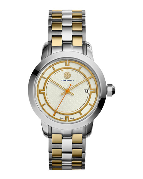 Tory Burch Watches 37mm Tory Two-Tone Bracelet Watch