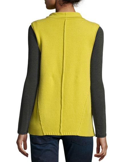 Cashmere Draped Vest
