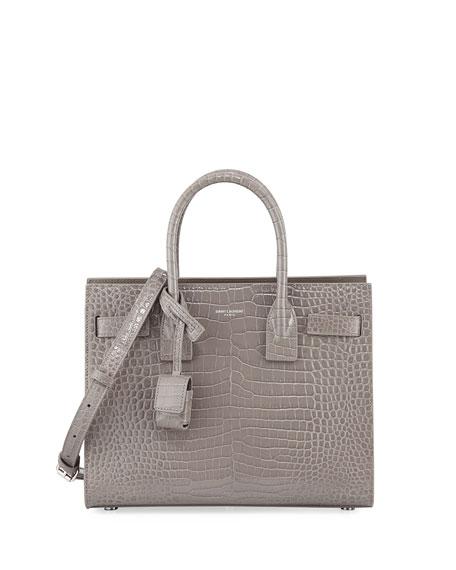 Saint Laurent Sac de Jour Baby Crocodile-Embossed Leather Satchel Bag  e4cc804738790