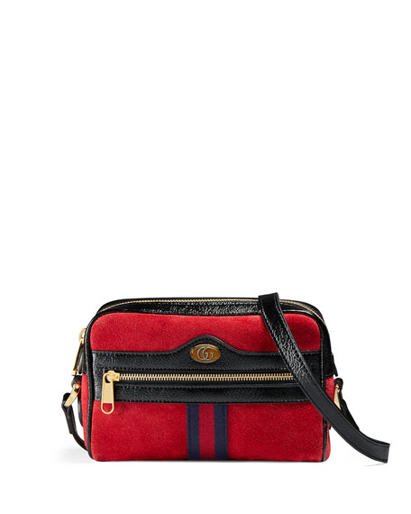 7c45cabedca7e4 Gucci Ophidia Small Suede Crossbody Camera Bag | Neiman Marcus