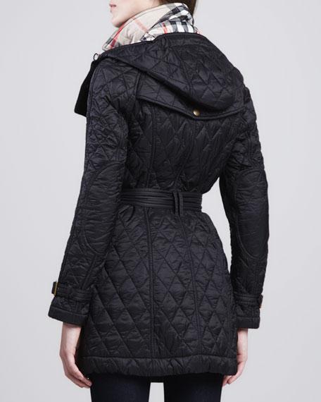 Burberry Finsbridge Hooded Quilted Jacket Neiman Marcus