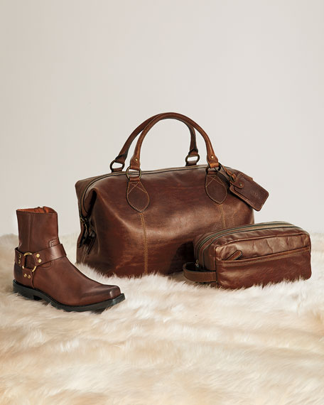 Image 2 of 5: Frye Logan Men's Leather Overnight Bag