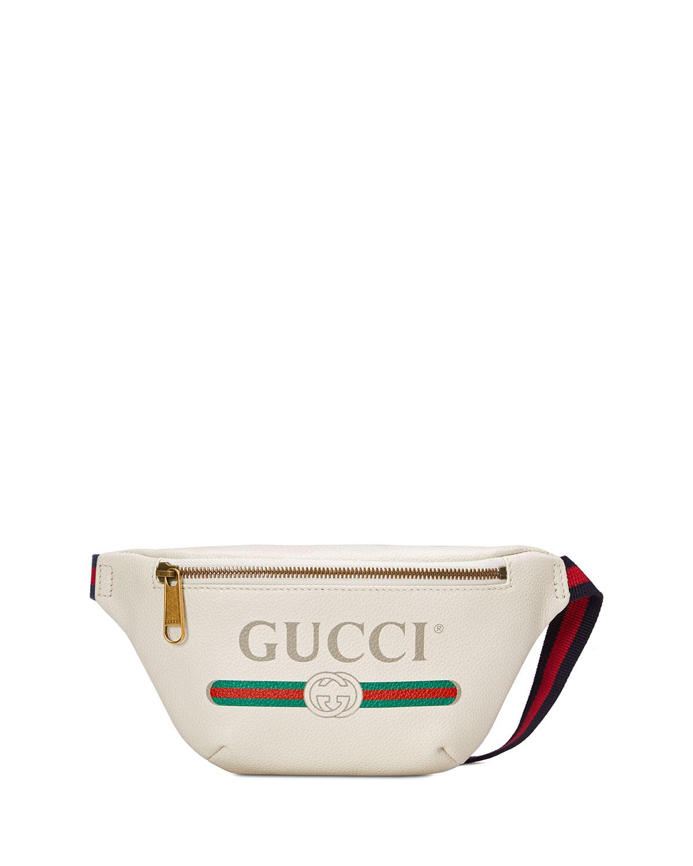 102e04aef36e Gucci Gucci-Print Small Leather Belt Bag | Neiman Marcus