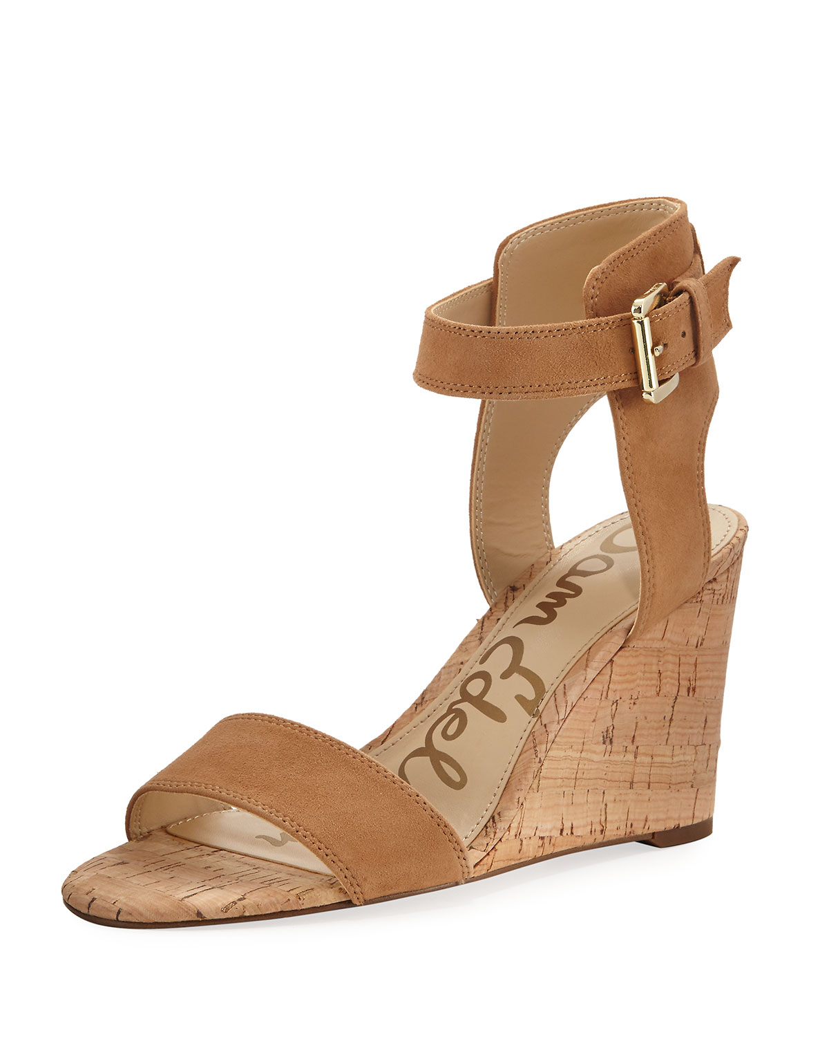 e1f966c4202cc7 Sam Edelman Willow Suede Cork Wedge Sandal