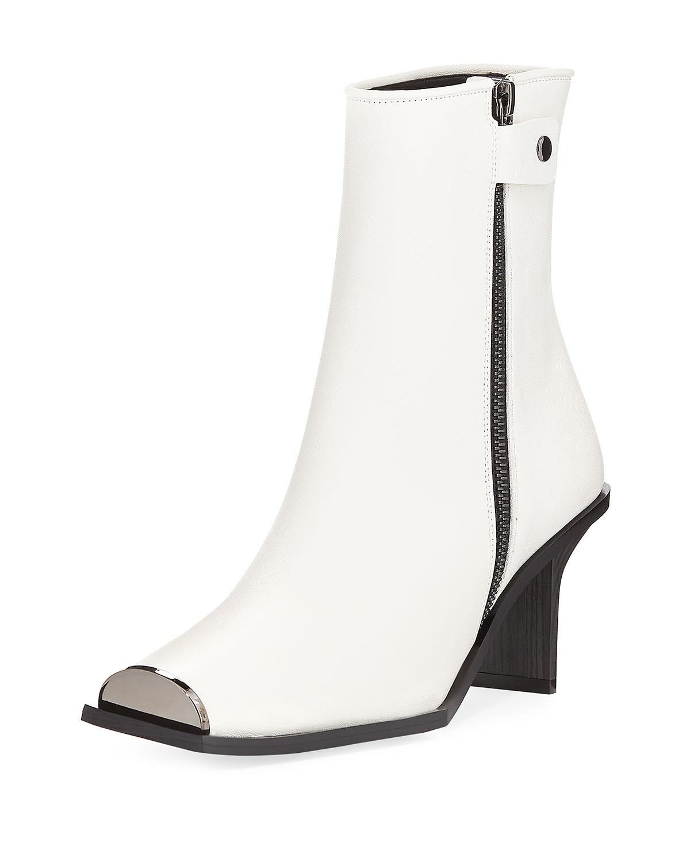 b008acdd1156 Stella McCartney Square-Toe Ankle Bootie