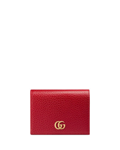 Image 1 of 4: GG Marmont Leather Card Case