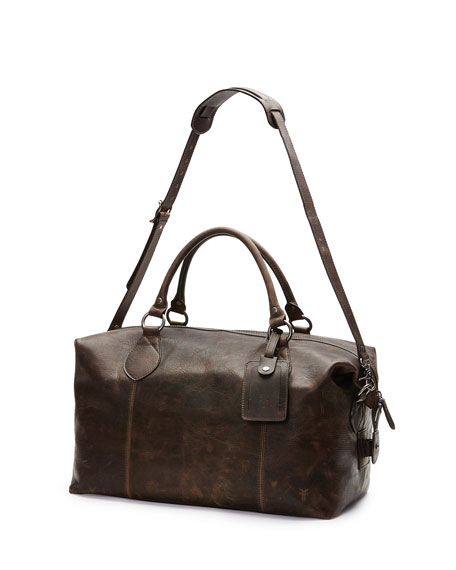 Image 4 of 5: Frye Logan Men's Leather Overnight Bag