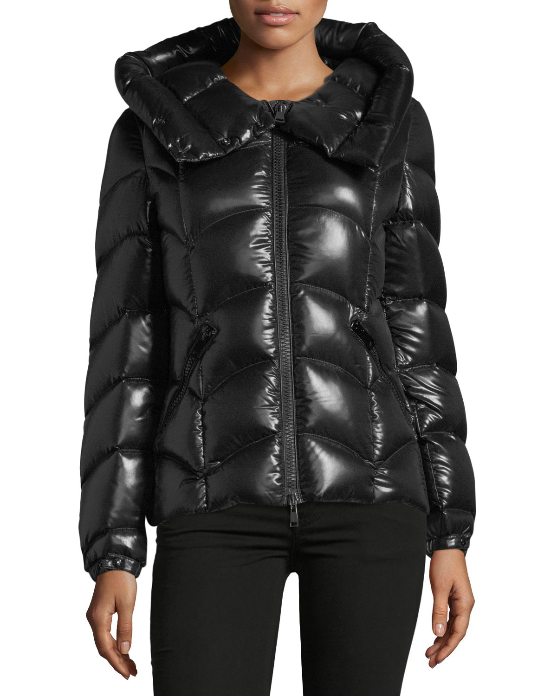 45b683b37 Moncler Akebia Hooded Wave Puffer Jacket