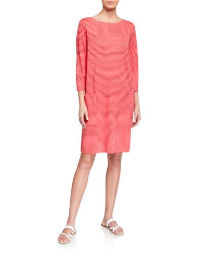 CLSS ORG LINEN JERSEY DRESS