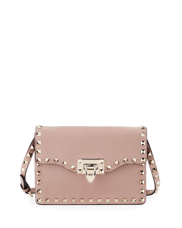 0aebe5f774e0 Valentino Garavani Small Rockstud Flap Crossbody Bag | Neiman Marcus