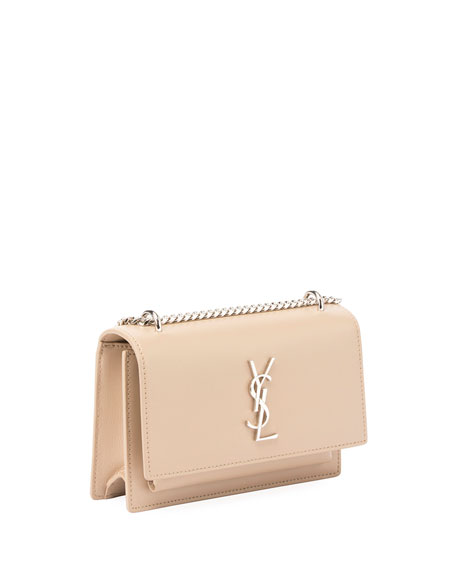 Sunset Monogram Small Calf Leather Wallet on a Chain