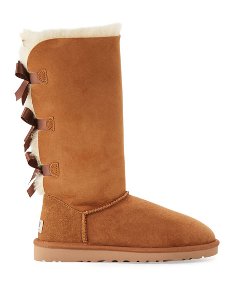 UGG Bailey Bow Tall Shearling Fur Boots