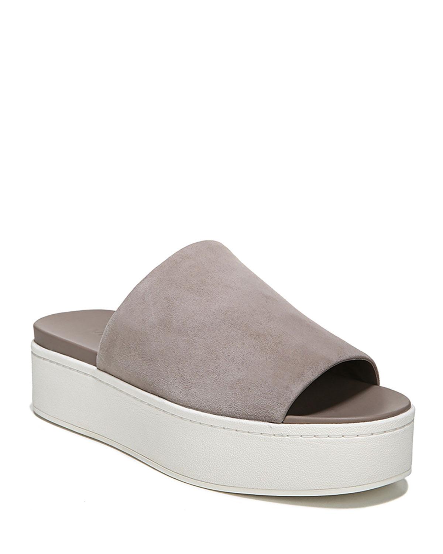 e9b84499a3f9 Vince Walford Flatform Suede Slide Sandal