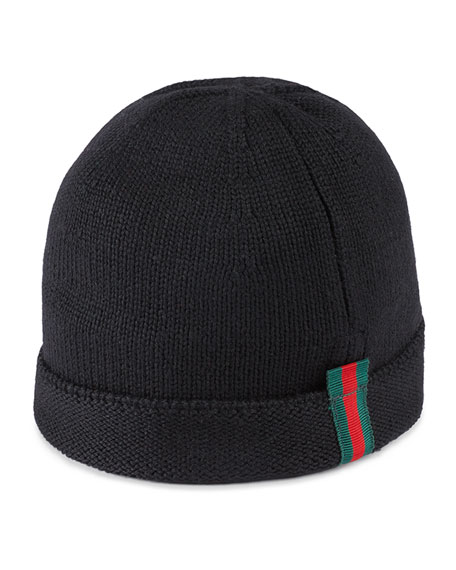 Gucci Kids  GG Supreme Canvas Bucket Hat w  Web Hat Band  095e03b6fda8