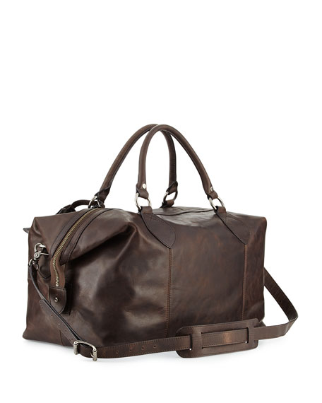 Image 3 of 5: Frye Logan Men's Leather Overnight Bag