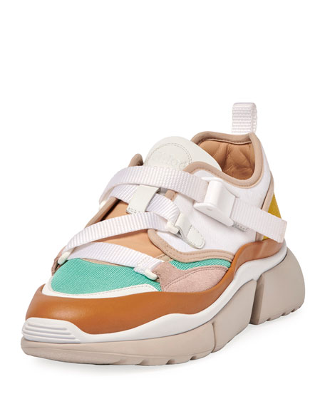 Image 1 of 4: Sonnie Multicolor Buckle Sneakers