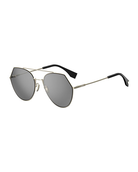 Image 1 of 1: Eyeline Mitered Aviator Sunglasses