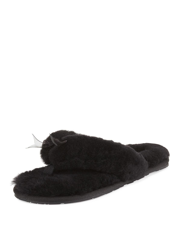 562f687cedfdae UGG Fluff II Shearling Fur Flip-Flop Slipper