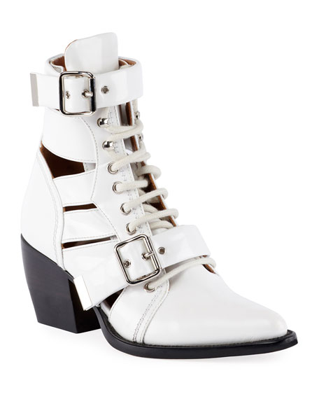 Image 1 of 4: Rylee Lace-Up Box Calf Boot