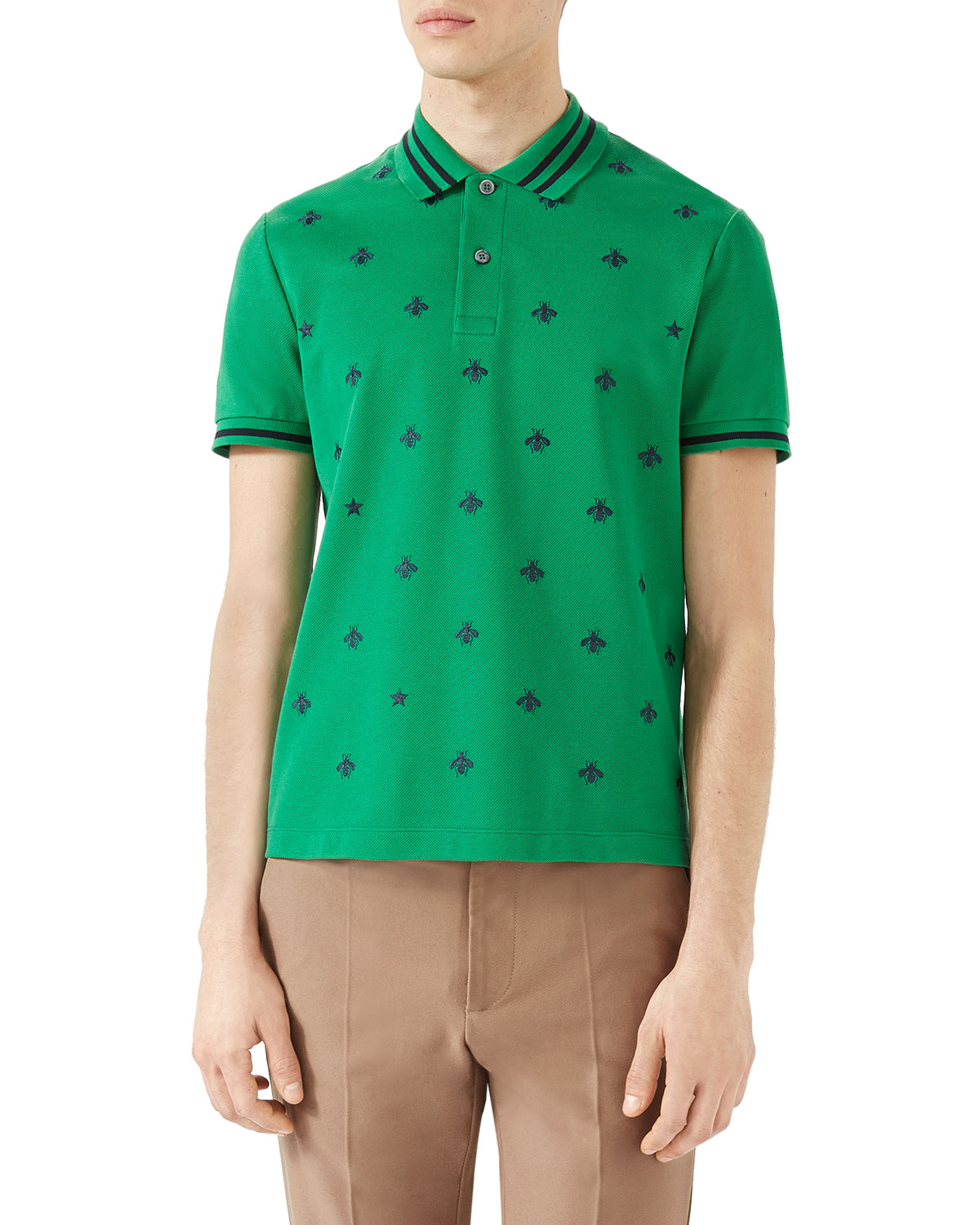 922935e5a7a Gucci Cotton Polo w Bees   Stars