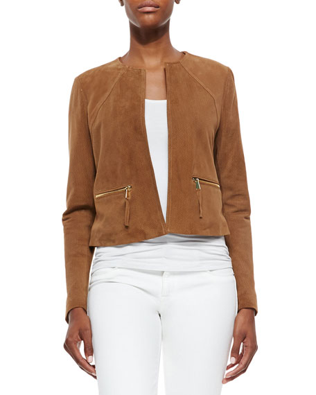Neiman MarcusPerforated Suede Jacket