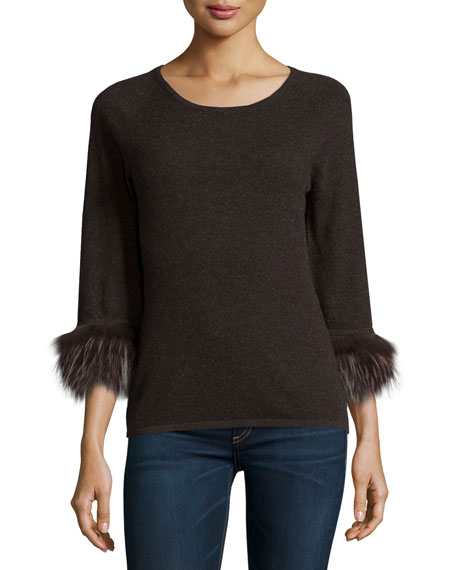 Neiman Marcus Cashmere Collection Cashmere Boatneck