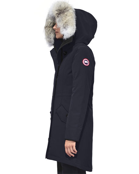 Image 3 of 6: Rossclair Fur-Trim Hooded Down Parka