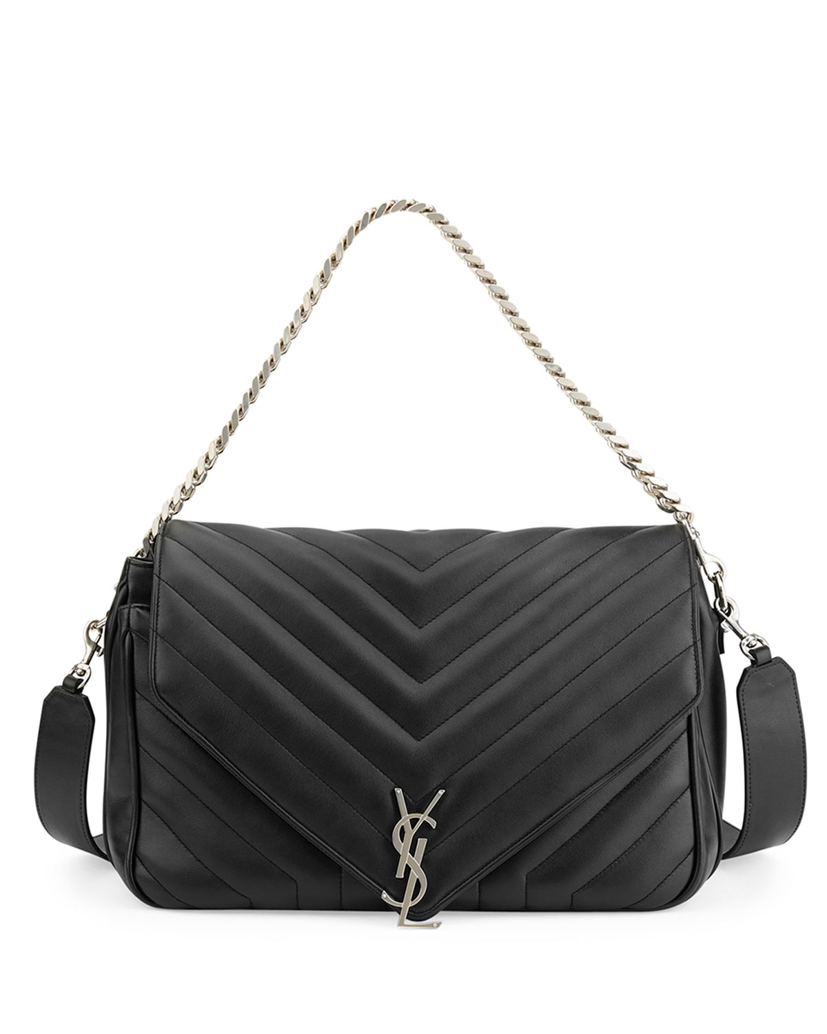 d085400cb1 Saint Laurent Monogram Large Slouchy Matelassé Leather Shoulder Bag ...