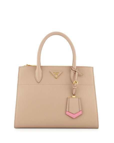 Image 1 of 4: Medium Saffiano Greca Paradigm Tote Bag