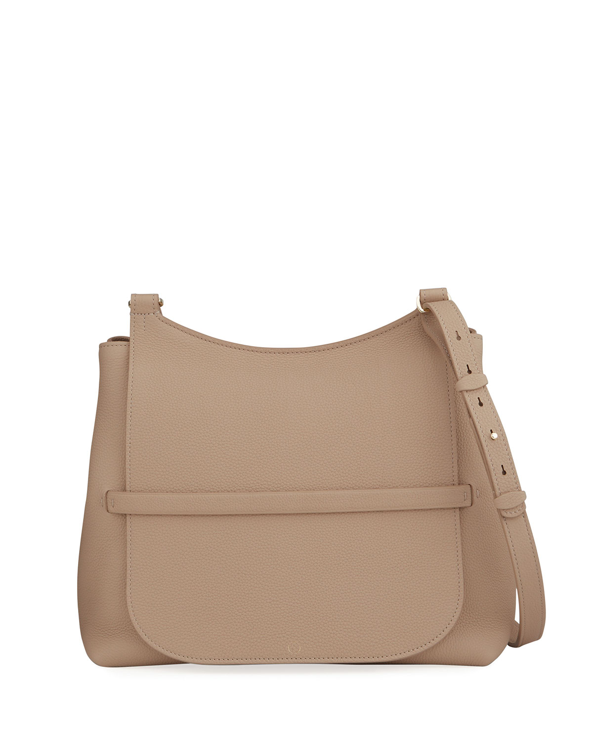 Sideby Pebbled Calfskin Crossbody Bag by The Row