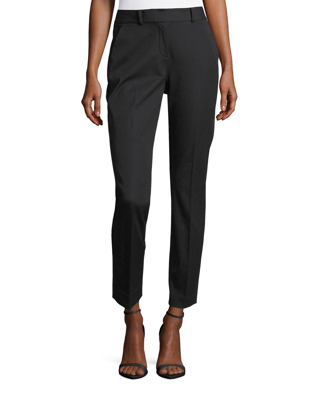 6468f0b0bae Elie Tahari Alanis Cotton-Twill Ankle Pants