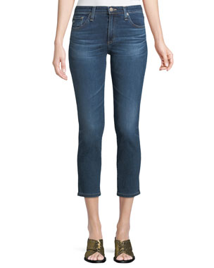 0444b79cf4 AG Adriano Goldschmied Prima Mid-Rise Cropped Denim Skinny Jeans