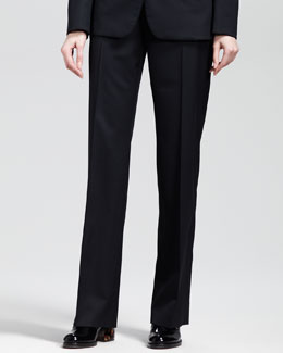 Stella McCartney Flat-Front Skinny Pants