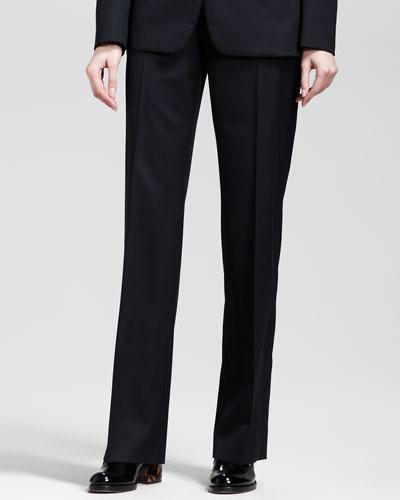 Flat-Front Skinny Pants