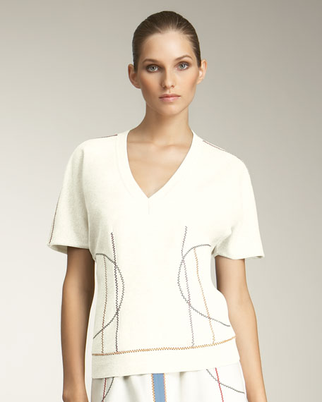Squiggle-Stitched Top