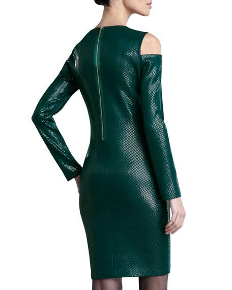 Cold-Shoulder Sequined Dress
