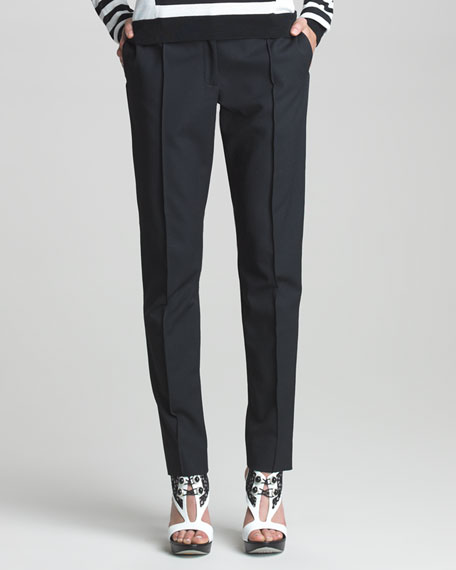 Classic Stovepipe Pants, Black