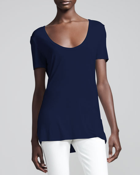 Scoop-Neck Jersey Tee