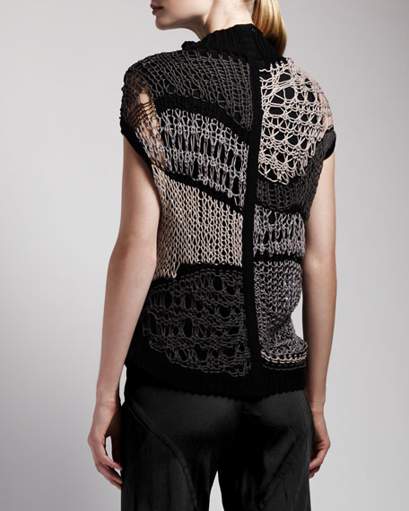 Asymmetric Crochet Top