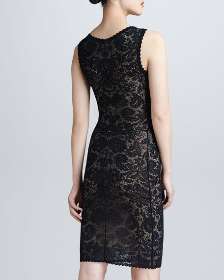 Sleeveless Lace V-Neck Dress