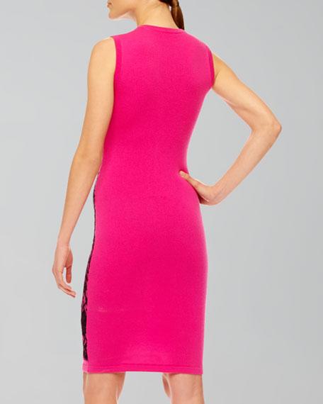 Lace-Print Cashmere Dress