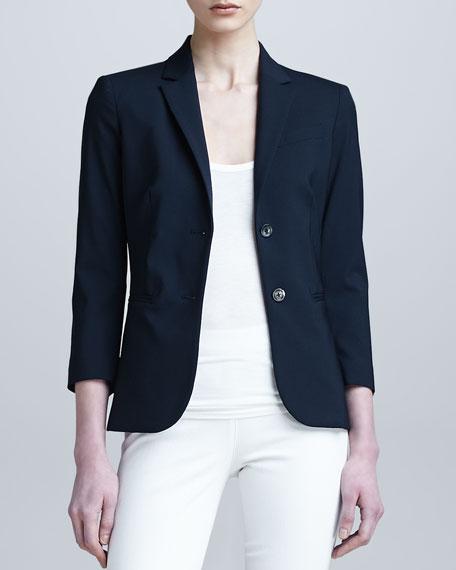 3/4-Sleeve Schoolboy Jacket, Navy