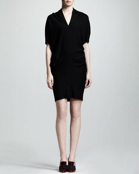 Blouson-Top Jersey Dress