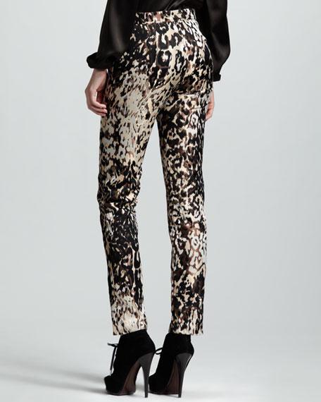 Leopard-Print Pants