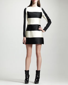 Stella McCartney Striped Contour-Seam Dress