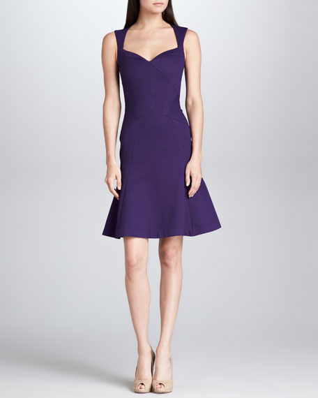 Zac Posen Sleeveless Sweetheart Dress, Amethyst
